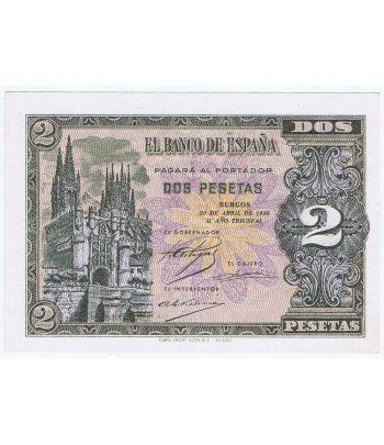 Billete de España 2 Pesetas 30 de abril de 1938. SC.  - 1