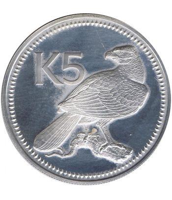 Moneda de Papua New Guinea 5 Kina de plata año 1975  - 1