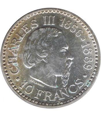 Moneda de Mónaco 10 Francs Charles III año 1966  - 1