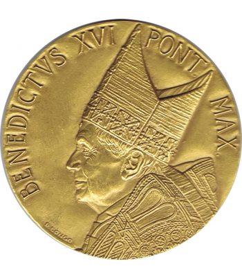 Medalla de Vaticano Benedicto XVI en Alemania año 2011 en bronce  - 1
