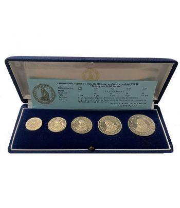 Estuche con 5 monedas de Nicaragua año 1972.  - 1