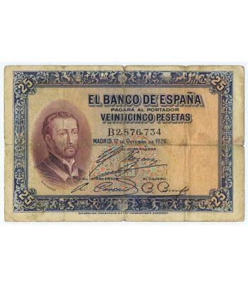 Billete de España 25 Pesetas 12 de octubre 1926.  - 1