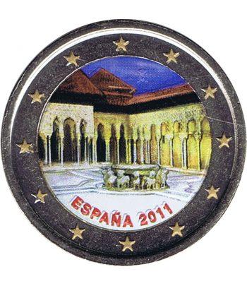 moneda conmemorativa 2 euros España 2011 Alhambra. Color D  - 1