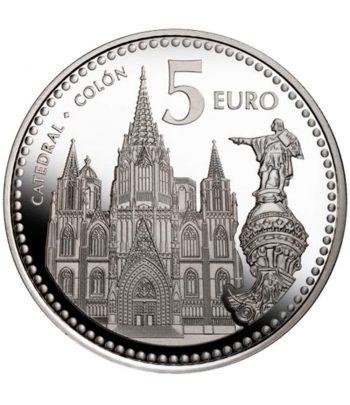 Moneda de Barcelona. 5 euros año 2010. Sin Estuche  - 1