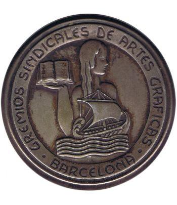 Medalla dedicada a los Gremios Sindicales de Artes Gráficas.  - 1