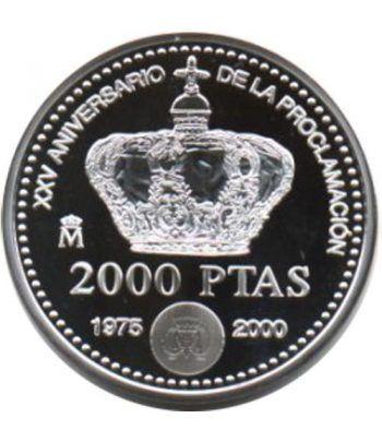 2000 Pesetas 2000 XXV Aniv. proclamación S.M. J. C. Madrid  - 2
