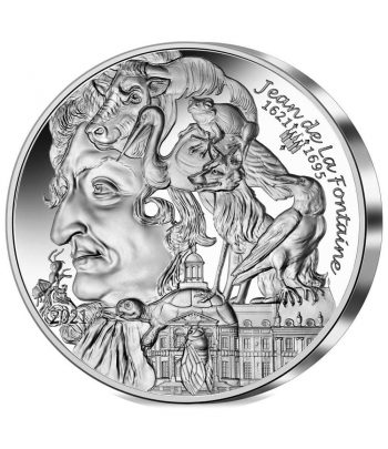 Moneda 10 euros de plata Francia año 2021 La Fontaine  - 1