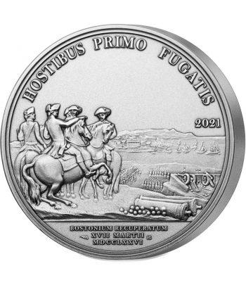 Moneda 25 euros de plata Francia año 2021 Llegada de Washington a Boston  - 1