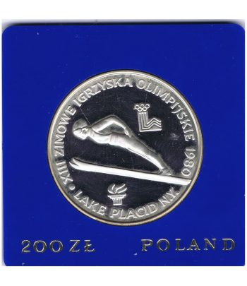 Moneda de Polonia 200 Zlotys de plata año 1980  - 1