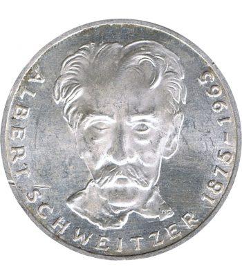 Moneda de Alemania 5 mark año 1975 de plata  - 1