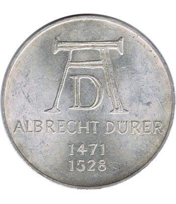 Moneda de Alemania 5 mark año 1971 de plata  - 1