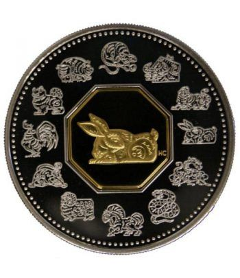 Canada 15$ (1999) Calendario Chino Conejo  - 2