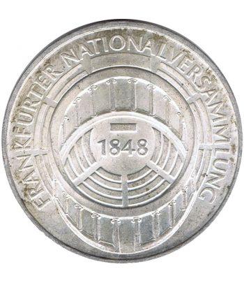 Moneda de Alemania 5 mark año 1973 de plata  - 1