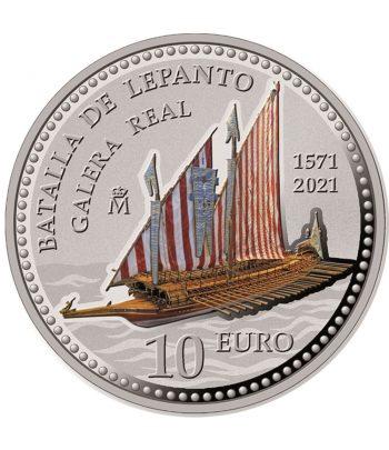 Moneda de España año 2021 Batalla de Lepanto. 10 euros Plata  - 1