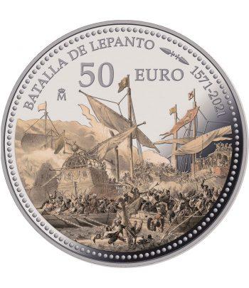 Moneda de España año 2021 Batalla de Lepanto. 50 euros Plata  - 1