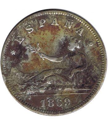 Moneda de España Gobierno Provisional 2 Pesetas 1869. Plata.  - 1