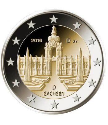 moneda 2 euros Alemania 2016 dedicada a Sachsen. Ceca G.  - 1