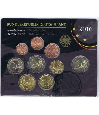 Alemania 2016 Cartera oficial Serie Anual de euros con Ceca F.  - 1