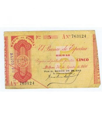 (1936) BILBAO. 5 Pesetas. MBC  - 1