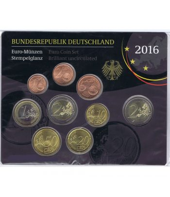 Alemania 2016 Cartera oficial Serie Anual de euros con Ceca A.  - 1