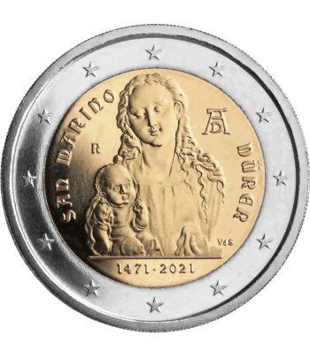moneda 2 euros San Marino 2021 dedicada al pintor Alberto Durero  - 1