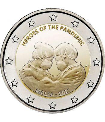 moneda 2 euros Malta 2021 dedicada a los Heroes de la Pandemia  - 1
