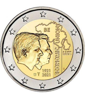 moneda 2 euros Belgica 2021 dedicada a la UE Bélgica Luxemburgo.  - 1