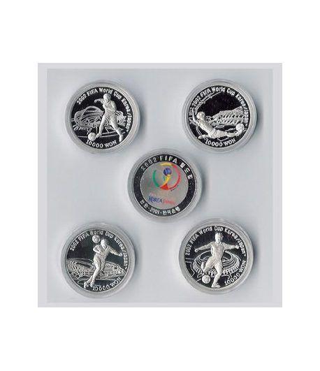 Monedas de plata Korea Japan 2002. Fifa World Cup. 4 monedas.  - 2