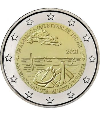 moneda de Finlandia 2 euros 2021 dedicada a Aland  - 1