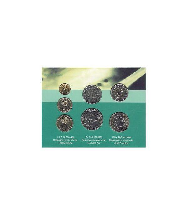 Estuche monedas Portugal (2001) Última serie de escudos  - 2