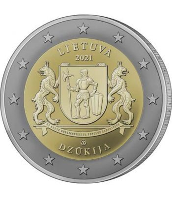 moneda 2 euros Lituania 2021 dedicada a la Región de Dzūkija  - 1