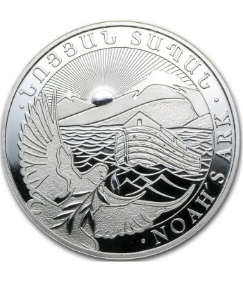 Moneda de plata 100 Dram Noah's Ark Armenia año 2012  - 1
