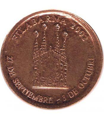 Medalla Filabarna 2002. Sagrada Familia. Gaudi. Cobre  - 1