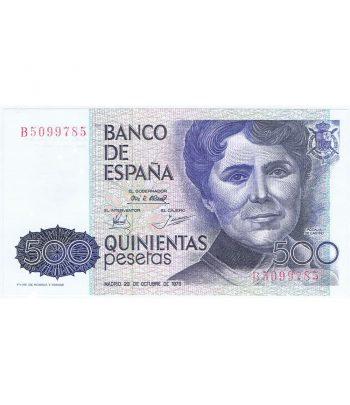 Billete de España 500 Pesetas 23 obtubre 1979 SC. Serie B5099785  - 1