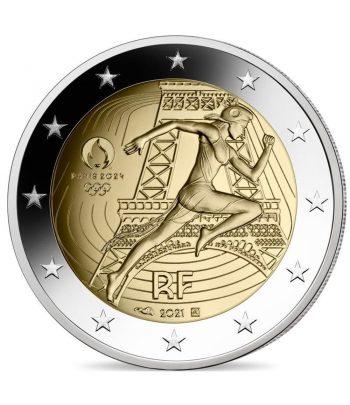moneda 2 euros Francia 2021 dedicada a Olimpiada Paris 2024.  - 1
