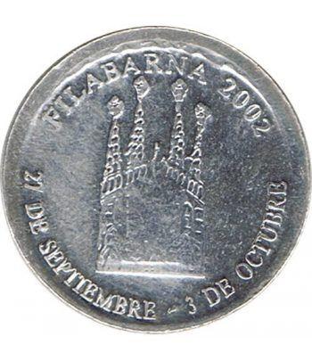 Medalla Filabarna 2002. Sagrada Familia. Gaudi. Plata  - 1