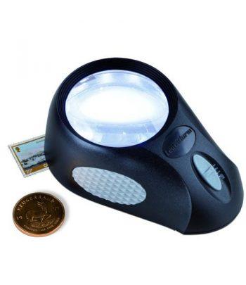 LEUCHTTURM Lupa de apoyo BULLAUGE con 6 LED.  - 1