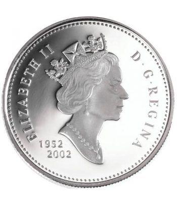 Moneda de plata 1 Dollar Canada 2002 Jubileo. Proof.  - 2