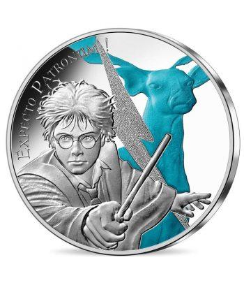 Moneda 50 euros de plata Francia año 2021 Expecto Patronum Harry Potter  - 1