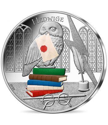 Moneda 50 euros de plata Francia año 2021 Hedwige Harry Potter  - 1