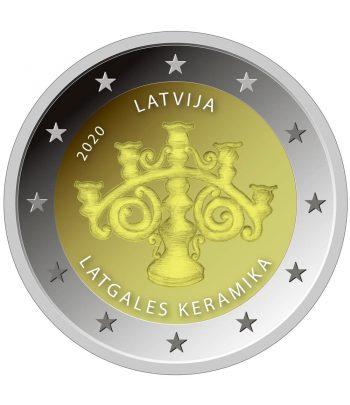 moneda 2 euros Letonia 2020 dedicada a la Cerámica.  - 1