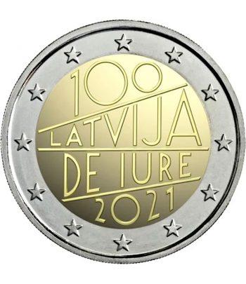 moneda 2 euros Letonia 2021 dedicada al Centenario de Iure  - 1