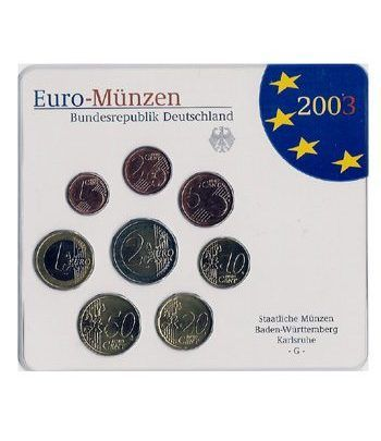 Cartera oficial euroset Alemania 2003 (5 cecas)  - 2