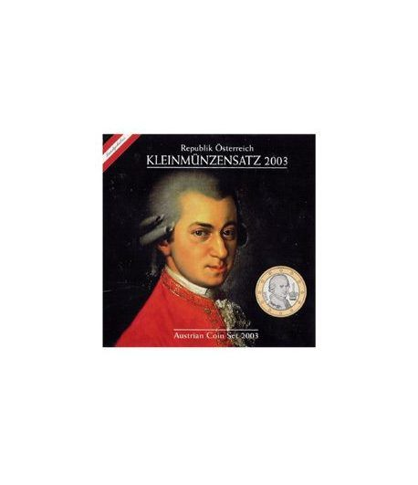 Cartera oficial euroset Austria 2003  - 2