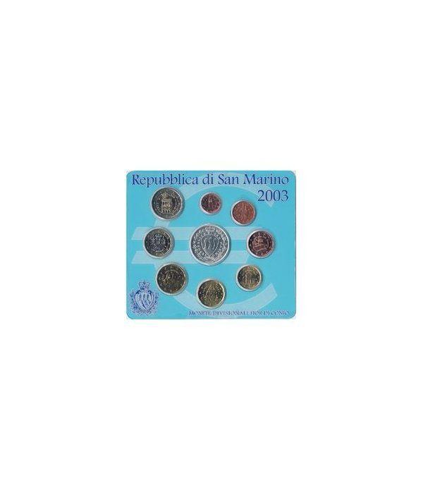 Cartera oficial euroset San Marino 2003 + 5€ (plata)  - 2