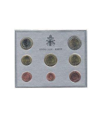 Cartera oficial euroset Vaticano 2003  - 2