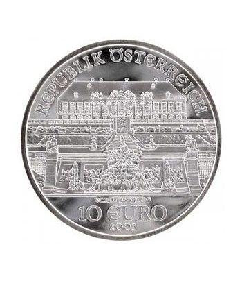 moneda Austria 10 Euros 2003 (Castillo Hof).  - 1