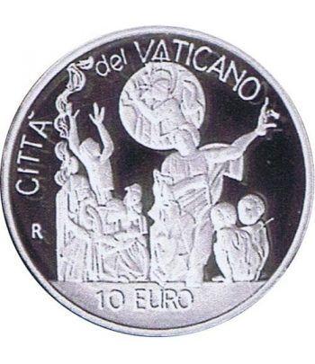 Vaticano 10 euros 2002. Dia Mundial Paz. Plata.  - 2