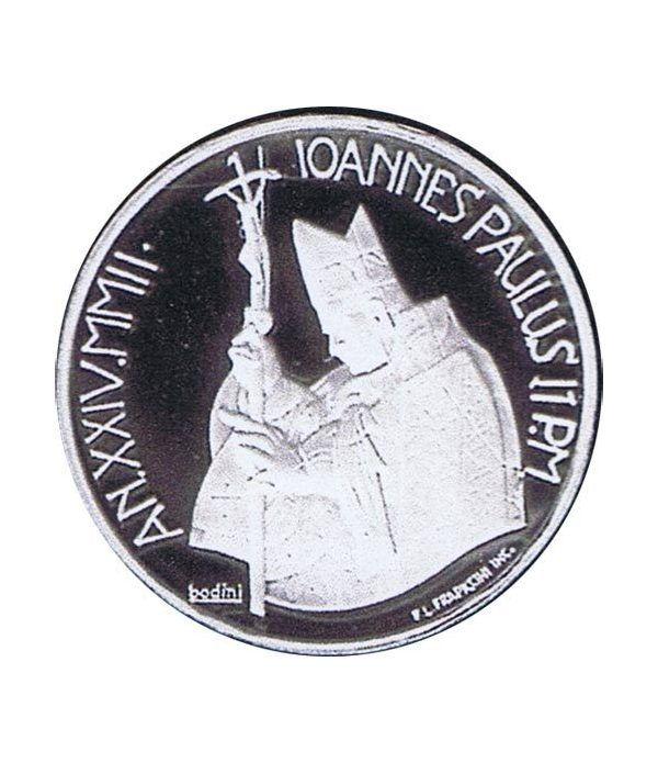 Vaticano 10 euros 2002. Dia Mundial Paz. Plata.  - 1
