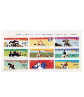 Minipliego 78 Juegos Ecuestres 2002  - 2